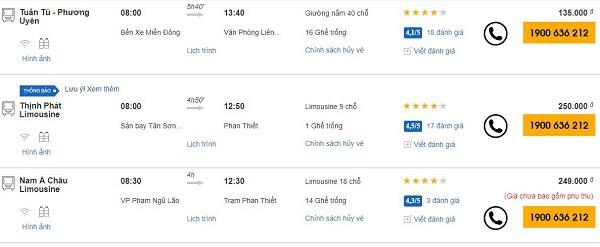 Xe khách Sài Gòn đi Bình Thuận